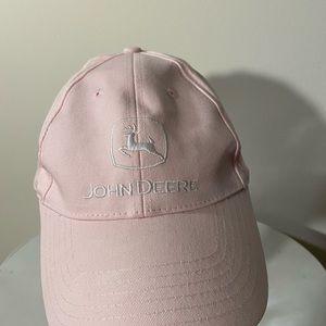 Women's pink John Deere Ball Cap W/ White Logo